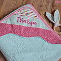 cape de bain personnalisée bébé Thalya