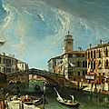 Michele marieschi (venice 1710 - 1743), venice, view of the canareggio, looking towards the grand canal