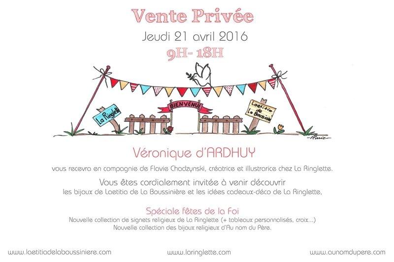Invitation pour la vente à Saumur (sans adresse)