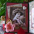 Mini-album vintage vert intérieur gauche