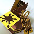 Carte pop-up anniversaire thème motocross #pop-up card #carte anniversaire garçon #motocross