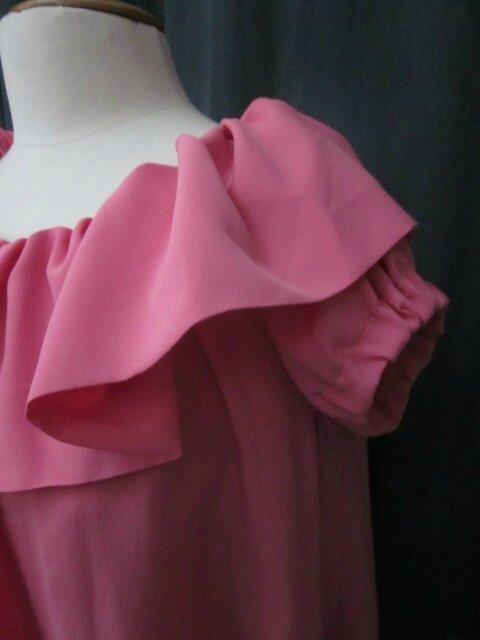 Robe-Tunique FERNANDE en crêpe polyester rose (4)