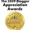 J'ai reçu le 2009 blogger appréciation awards