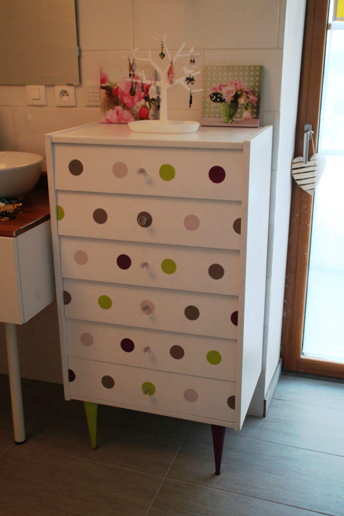 Diy Bouton De Meuble commode pastel dots - diy relooking mobilier - créer ma déco!