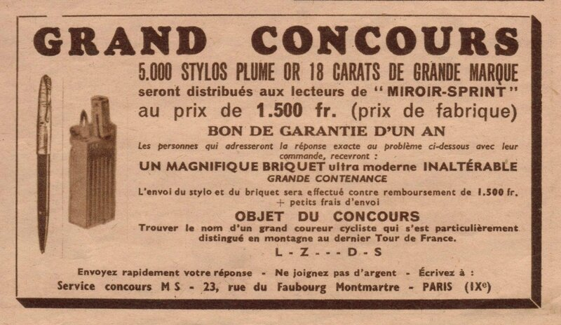 concours miroir sprint 1949