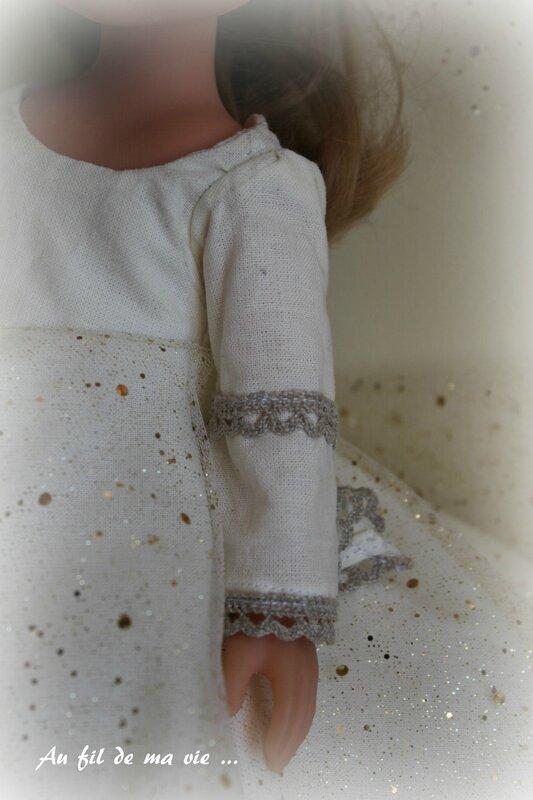 Vetement Corolle poupée robe princesse tunique (2)