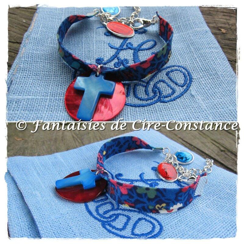 bracelet spi croix nacre bleue liberty Fitzerald-1
