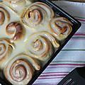 Cinnamon rolls - roulés à la cannelle