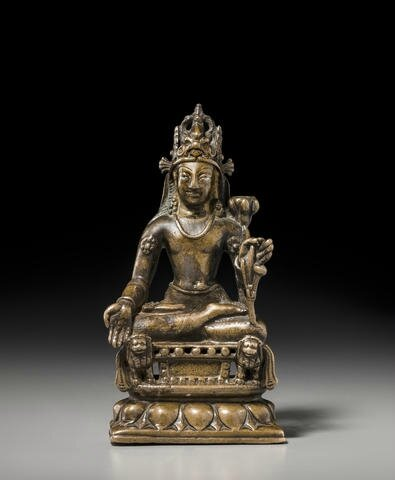 A copper alloy figure of Avalokiteshvara, Swat valley, 8th-9th century