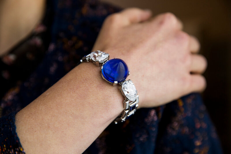 Sapphire and diamond bracelet, Cartier, 1927 - Model landscape -Magnificent Jewels and Noble Jewels Sotheby's Geneva 13 November 2019