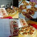Tapas: mini pizzas
