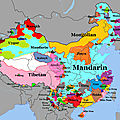asie Language Map Of China