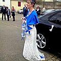 La mariée en bleu roi