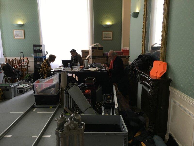 tournage série TV les Témoins Avranches 19 mars 2016 salle des mariages bureau administratif mairie Avranches