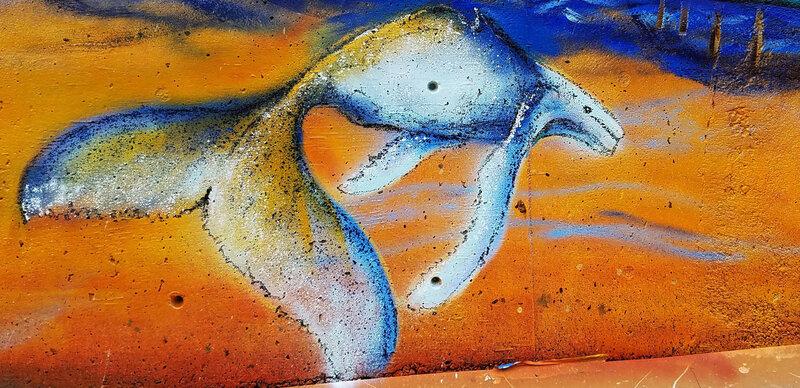 Mural at SW Hatfield Dr., Newport, Oregon, USA