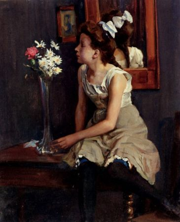 19221_Girl_In_The_Studio_With_Flowers_ferich_henning