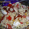 Salade improvisée de risetti