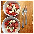 Salade de melon d'eau... surprenante!
