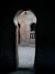 Image dérobée cour de mosquée à SÉGOUKORO Mali