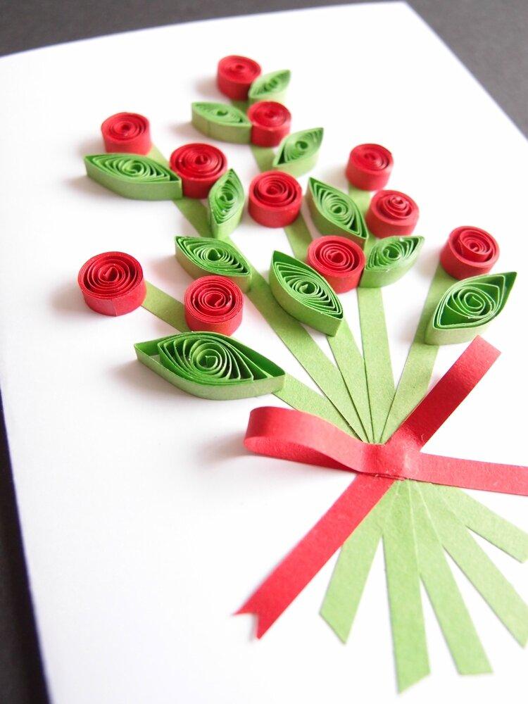 nouvelle cr a en quilling cartes bouquet de fleurs le blog de lam lo. Black Bedroom Furniture Sets. Home Design Ideas