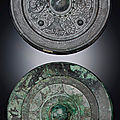 Two bronze octalobed mirrors, tang dynasty (618-907)