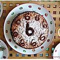 Gâteau d'anniversaire 6ans : genoise au chocolat et ses pépites