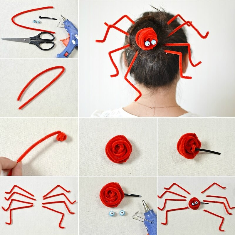 Cheap-and-Easy-Halloween-Ideas-–-How-to-Make-a-Spider-Hair-Clip