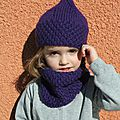 Ensemble bonnet + snood pour lou-ann (tutos)
