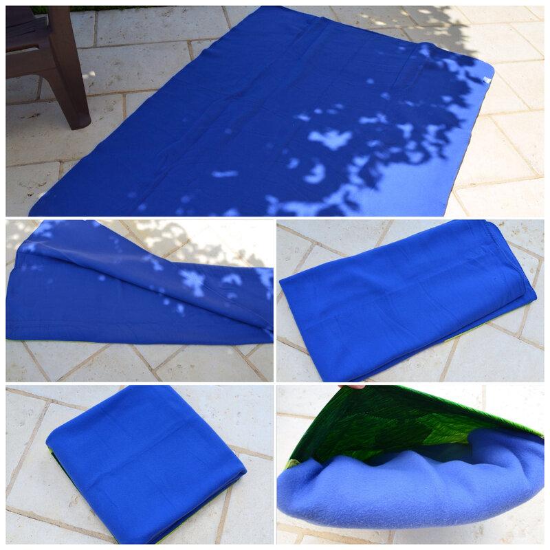 Pliage couverture coussin