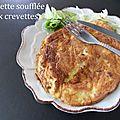 Omelette soufflée aux crevettes