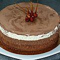 Un classique: le gâteau aux trois chocolats