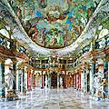 Bibliothèque de l'abbaye de wiblingen - allemagne