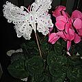 Un papillon dans mes fleurs