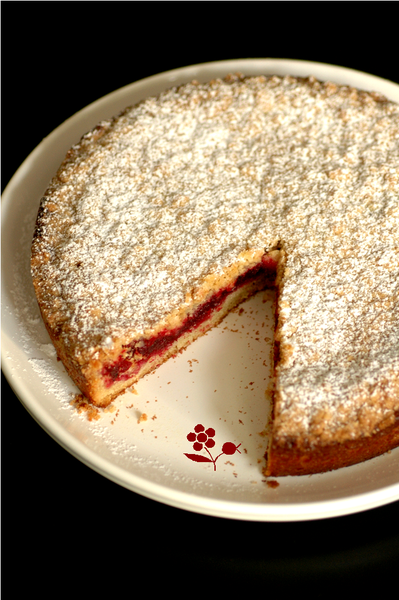 Gâteau crumble vanille-canneberges_1