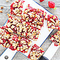 Crumble aux fraises / strawberry crumb squares (vegan)