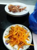 lamelles de carotte