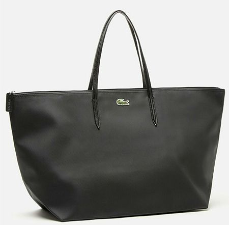 lacoste sac shopping noir