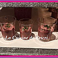 Verrine de betteraves et thon