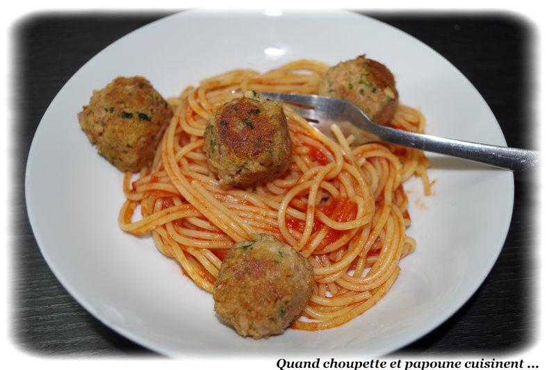 boulettes de thon et spaghettis-7782