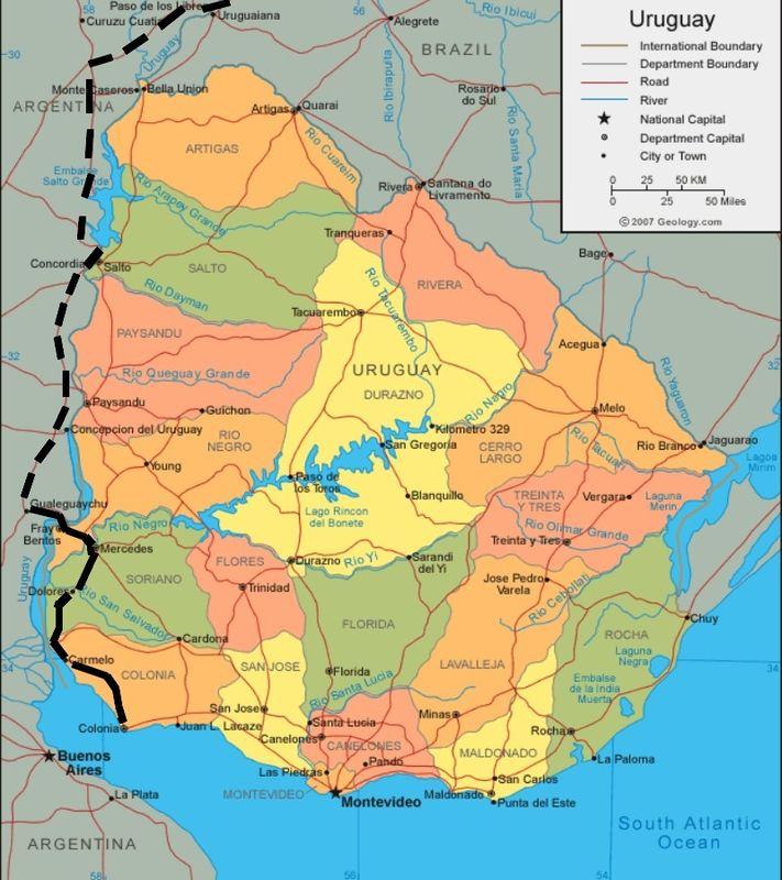 Uruguay itinéraire