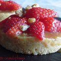 Tartelette caramel et fraises