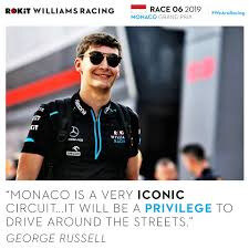 MONACO F1 2019 GEORGES RUSSELL
