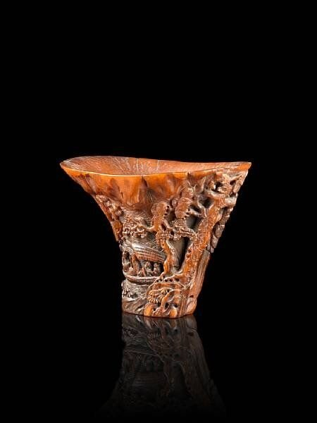 A_finely_carved__Ode_to_the_Red_Cliff__rhinoceros_horn_libation_cup