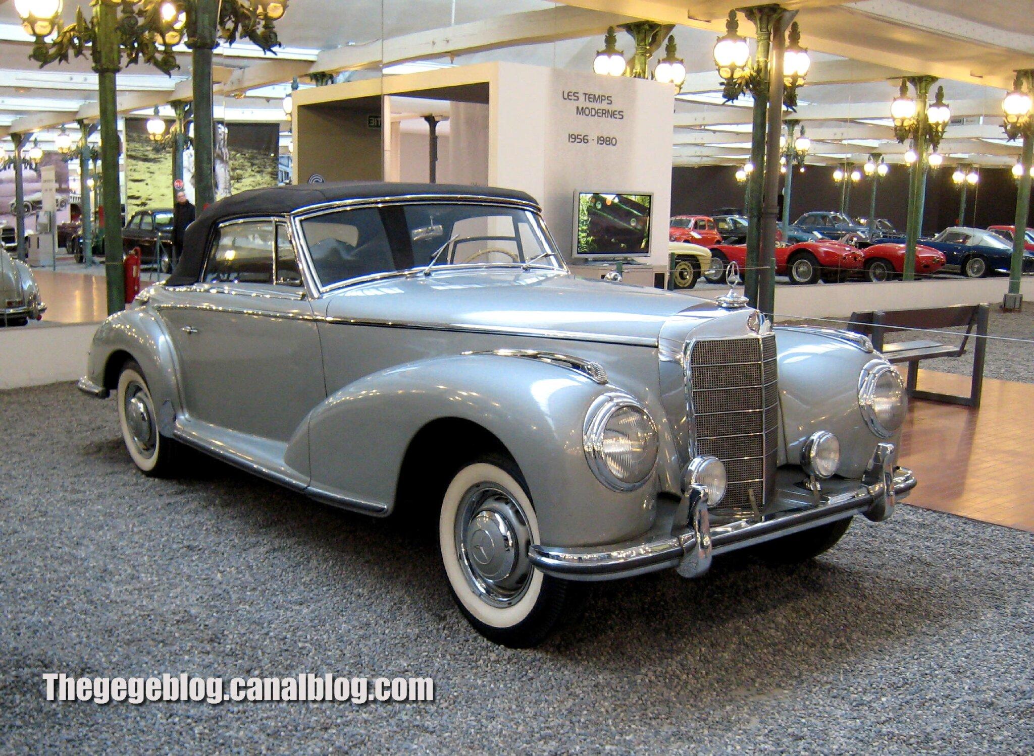 Mercedes 300 S cabriolet de 1955 (Cité de l'Automobile Collection Schlumpf à Mulhouse) 01