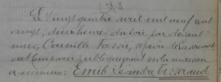 1920 le 24 avril mariage de Marie Quefelec et Emile Tisserand_1