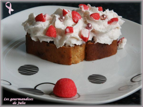 cake fraises sechees chantilly tagada
