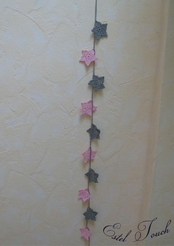 guirlande etoile rose gris3