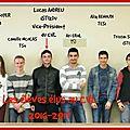 Les élèves élus au cvl pour l'année 2016-2017