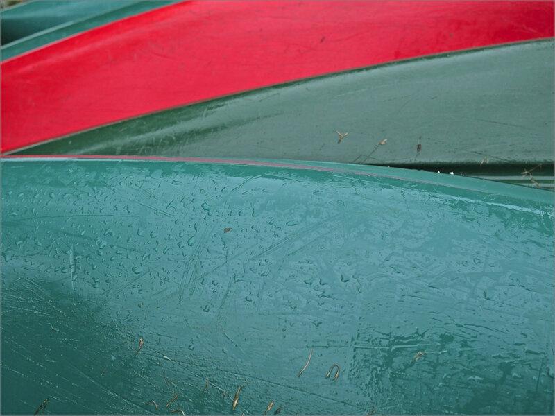 Niort pluie matin 110819 ym 36 canoés vert rouge