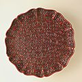 Foliated dish (pan) with sword-pommel pattern, china, chinese, early ming dynasty, about 1368-1450